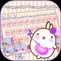 Floral Kitty Bunny Keyboard Theme icon