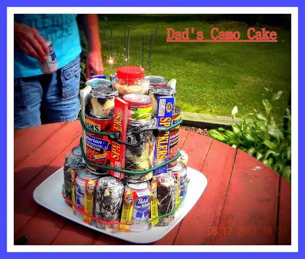 Dad's Camo Cake Recipe