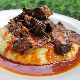 BBQ Pot Roast over Cheddar Ranch Grits.