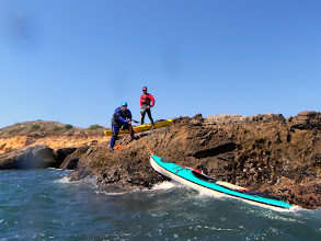 Photo: Dave hauling his 22 year old boat after dumping and climbing