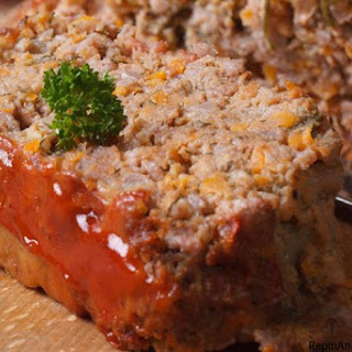 Meatloaf with Italian Cheese.