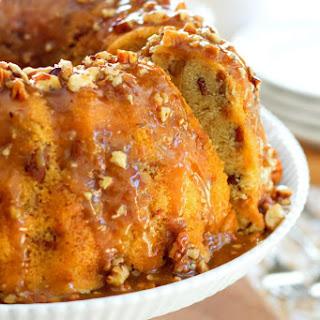 Pecan Praline Buttermilk Pound Cake.