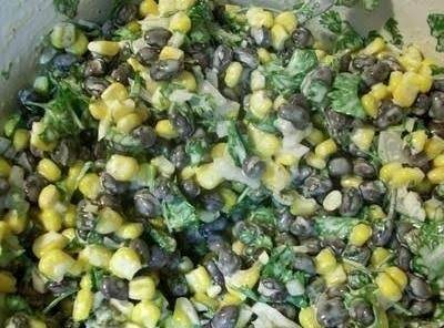 Southwestern Corny Black Bean Salad Is A Tasty Combination Of Fresh Grilled Corn, Black Beans And Chopped Cilantro In A Creamy Spicy Dressing. Double The Recipe And Serve With Tortilla Chips For A Refreshing Change From The Usual Dips.