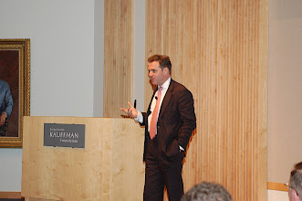 Photo: Niall Ferguson, author and Professor of History at Harvard University and William Ziegler Professor at Harvard Business School, delivers the opening guest presentation at the Summit on Expeditionary Economics.