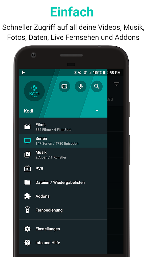 Kodi Fernbedienung Android