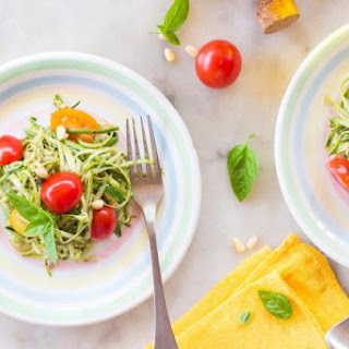 Grilled Chicken with Gluten-Free Lemon-Tahini Zucchini Noodles