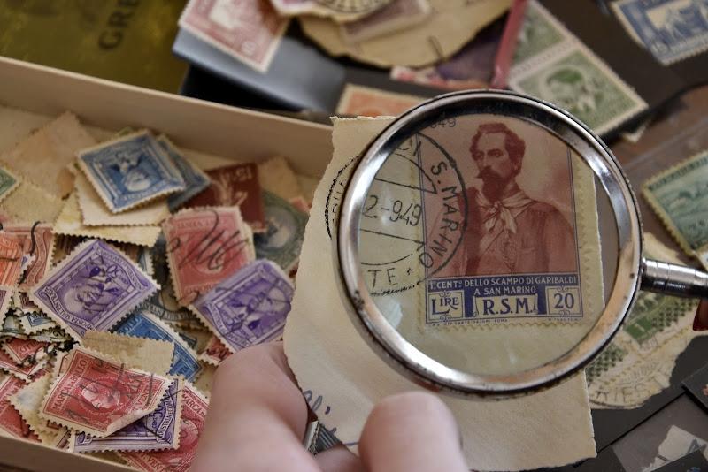 Raccolte di ricordi e francobolli.. di Ingles Alberti