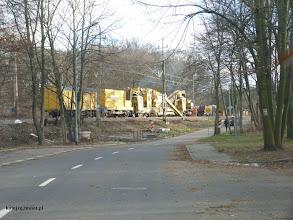 Photo: Trwają prace na torze nr 1 rejon ul. Wyspiańskiego