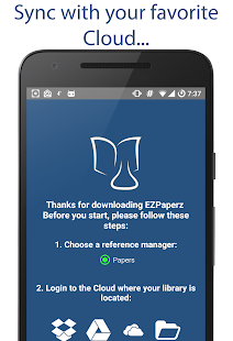 EZPaperz. Papers' PDFs, synced- screenshot thumbnail