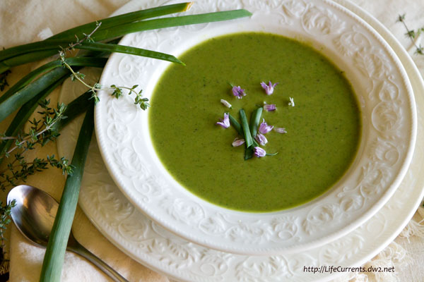 Broccoli and Pea Potage with Thyme Recipe