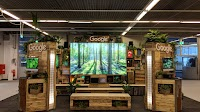 Google's Booth at European Geosciences Union (EGU) in Vienna, Austria 2019 designed by Dusty Reid, marketing event manager for Google Earth