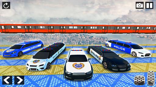Police Limo Car Stunts - Mega Ramp Car Racing Game android2mod screenshots 4