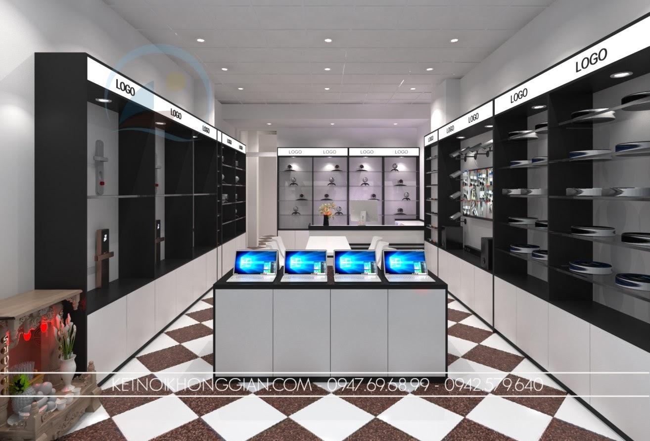 thiết kế cửa hàng đồ điện tử 2