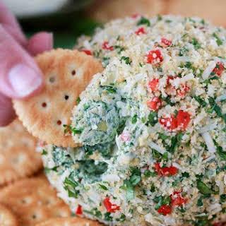Spinach Artichoke Cheese Ball.