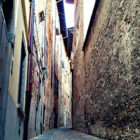 Bergamo, Italy by Giggity GiggityGoo - City,  Street & Park  Neighborhoods ( photographer, bergamo, taking photos, bergamo italy, pwc75, cobblestone )