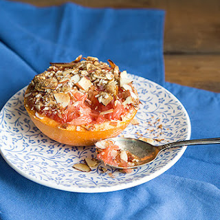 Warm Grapefruit with Almonds and Cinnamon.