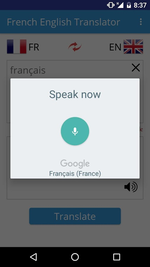 French English Translator- screenshot