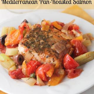 Mediterranean Pan-Roasted Salmon.