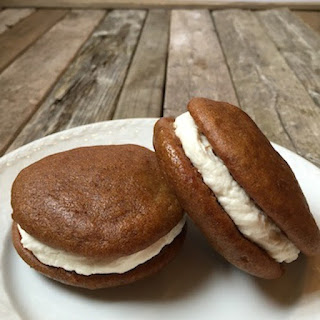 Pumpkin Whoopie Pies With Cream Cheese Filling