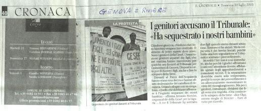 Photo: In solidarietà a madre/figli di Genova