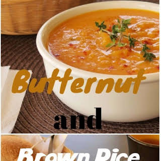 Butternut and Brown Rice Soup.