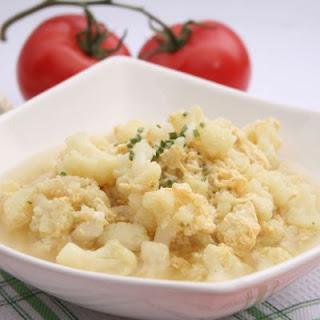Cheesy Crockpot Cauliflower