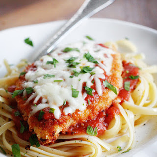Baked Chicken Parmesan.
