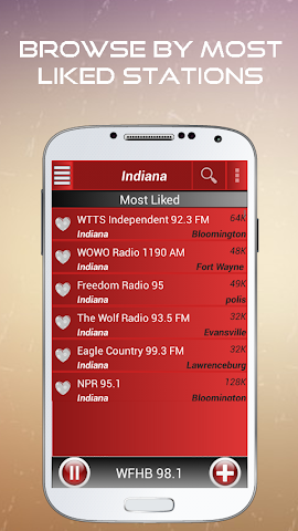 android A2Z Indiana FM Radio Screenshot 2