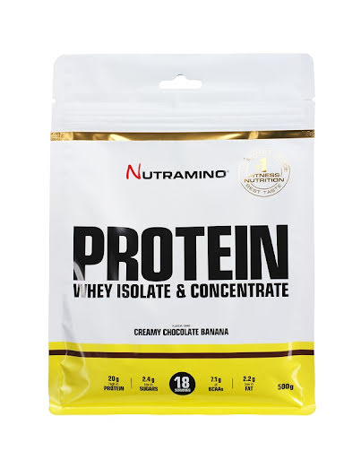 Nutramino Whey Protein 500g - Creamy Chocolate & Banana