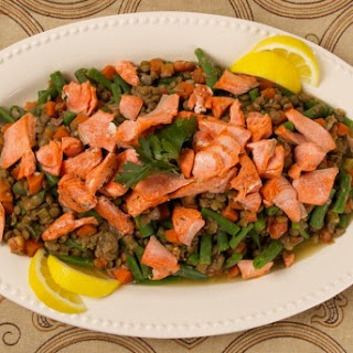 Salmon With Lentil and Green Bean Salad CBC Best Recipes Ever