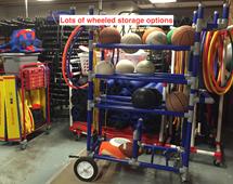 mobile equipment storage rack