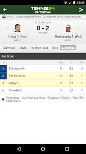 Tennis 24 - tennis live scores screenshot 2