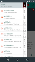 Screenshot of Asmaul Husna with Audio