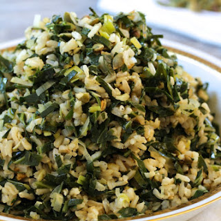 Dirty Rice with Collards and Leeks {vegan and gluten-free}.