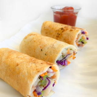 Veggie & Cheese Dosa Roll-Ups (Indian Crepe Roll-Ups with Veggies & cheese)