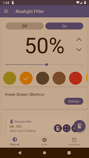 Bluelight Filter for Eye Care - Auto screen filter 3.0.4 screenshots 2