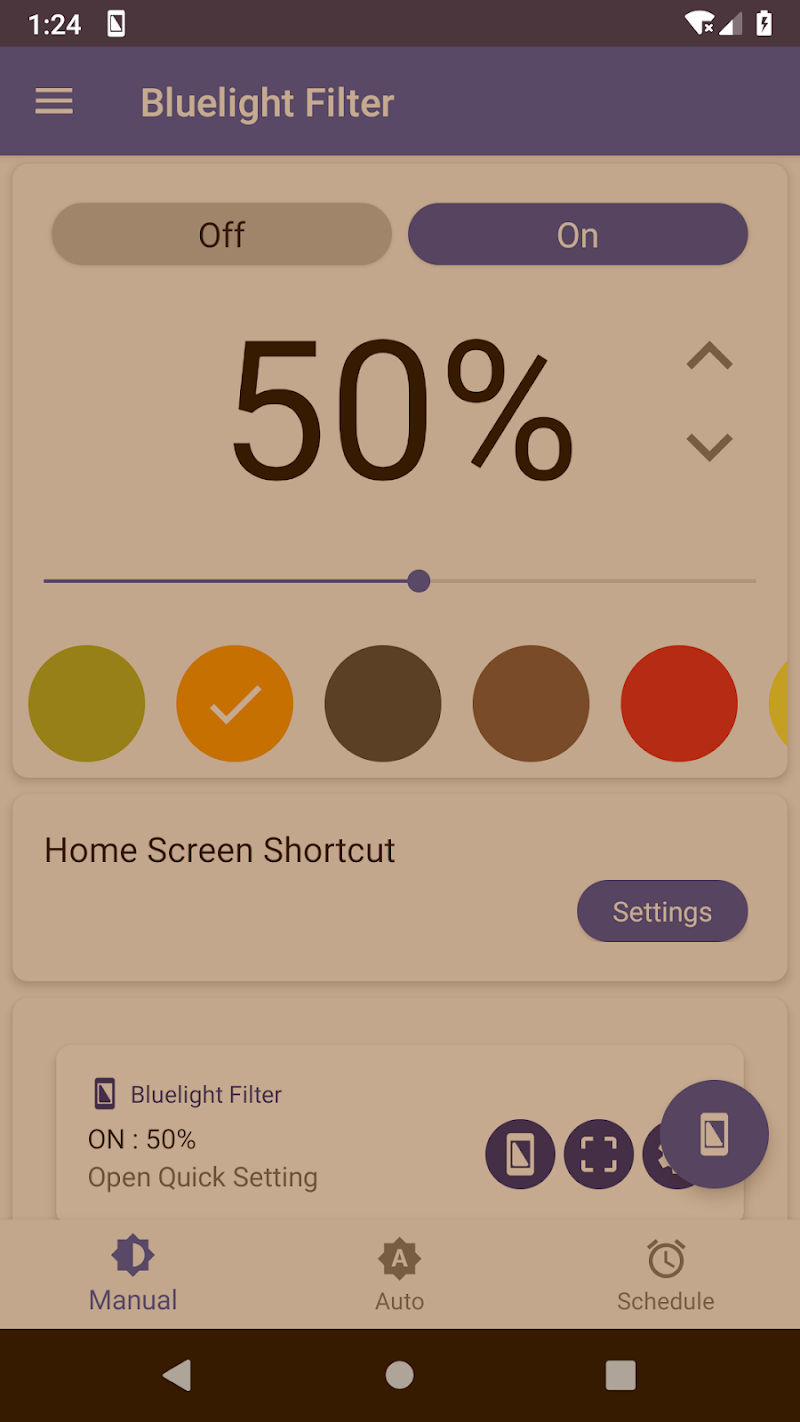 Bluelight Filter for Eye Care - Auto screen filter Screenshot 1