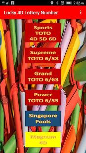 Lucky 4D TOTO MAGNUM Lotto Jackpot Number - AppRecs