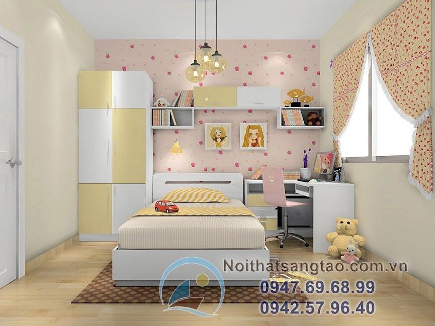 thiết kế phòng ngủ bé gái 2