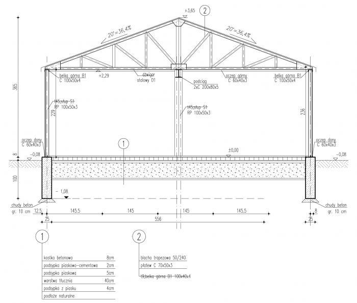 Poważnie Projekt garażu GB16 Garaż Blaszany (TXB-863) - 39.74m² GN67