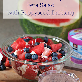 Watermelon, Berry, & Feta Salad with Poppyseed Dressing