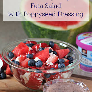 Watermelon, Berry, & Feta Salad with Poppyseed Dressing.