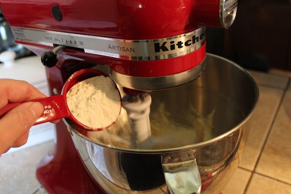 Stir flour mixture into banana mixture just until evenly moistened, the batter will be...