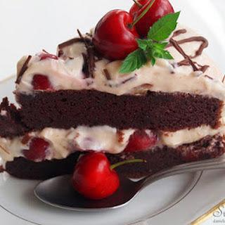Cherry Custard Tart from Spelt Flour