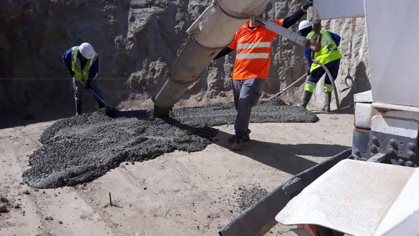 Trabajadores de las obras para la llegada de la Alta Velocidad