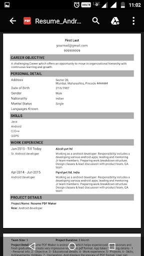 download resume pdf maker