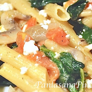 Spinach and Feta Pasta.