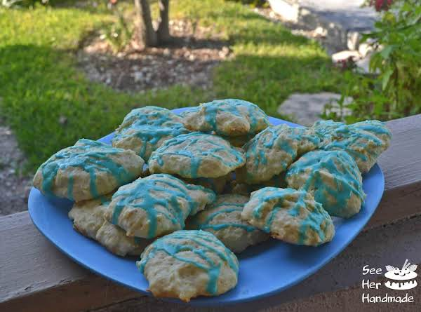 Easter Blue Almond Cookies