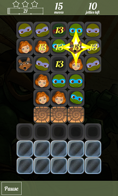 Match 3 Ninja Turtles Game - screenshot