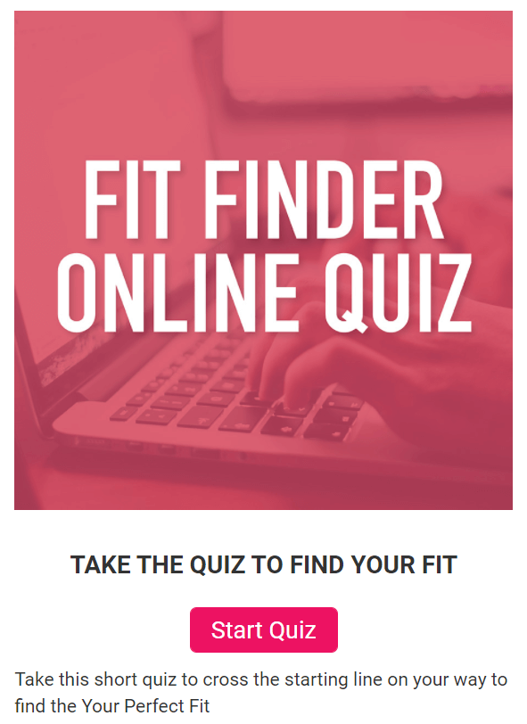 "An advertisement for a shoe fitting quiz designed to find ""Your Perfect Fit""."
